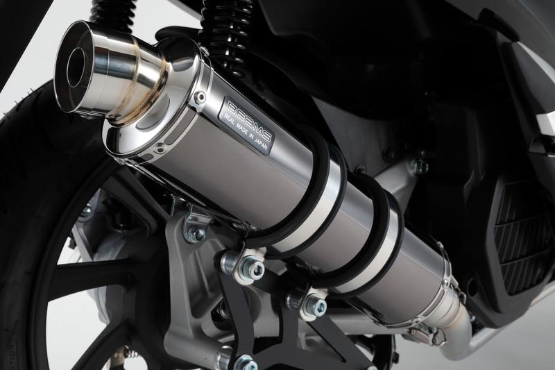 R-EVO マフラー SMB(スーパーメタルブラック)サイレンサー 政府認証 BMS-R(ビームス) PCX125(2BJ-JF81)