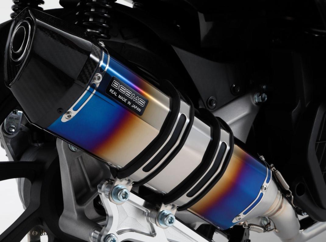 CORSA-EVO2 マフラーヒートチタンサイレンサー 政府認証 BMS-R(ビームス) PCX150(2BK‐KF30)