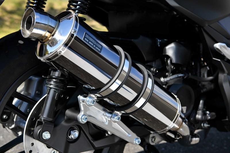 R-EVO マフラー SMB(スーパーメタルブラック)サイレンサー 政府認証 BMS-R(ビームス) フォルツァ(MF13)