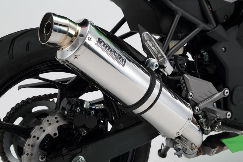 R-EVO スリップオンマフラー ステンレスサイレンサー 政府認証 BMS-R(ビームス) Z250SL(JBK-BR250E)