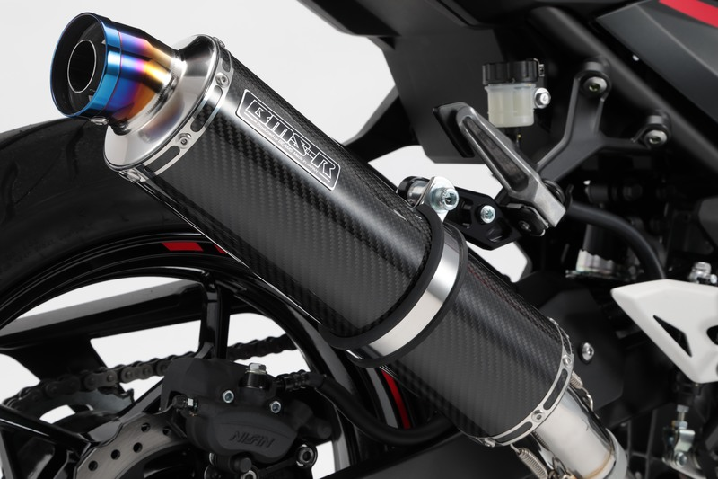 R-EVO マフラー スリップオンマフラー カーボンサイレンサー 政府認証 BMS-R(ビームス) Ninja250(ニンジャ250)18年