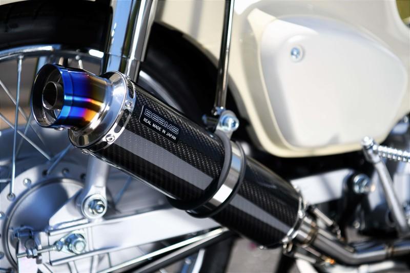 R-EVO マフラー カーボンサイレンサー 政府認証 BMS-R(ビームス) スーパーカブ50(2BH-AA09)