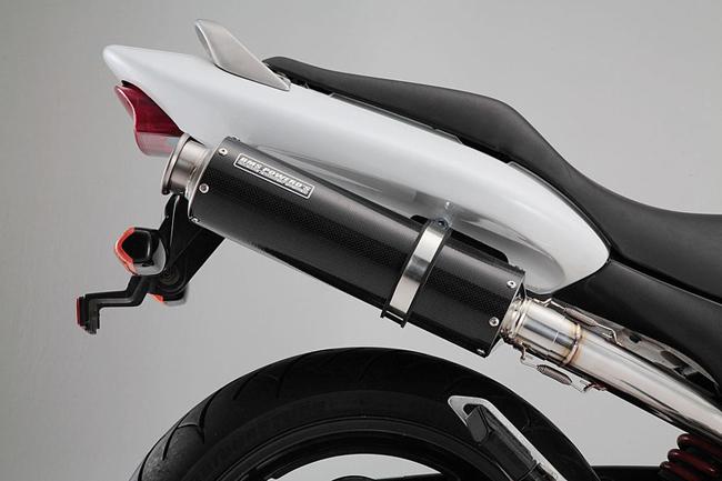 ラウンドカーボン スリップオンマフラー JMCA認定 BMS-R(ビームス) HORNET250(MC31)