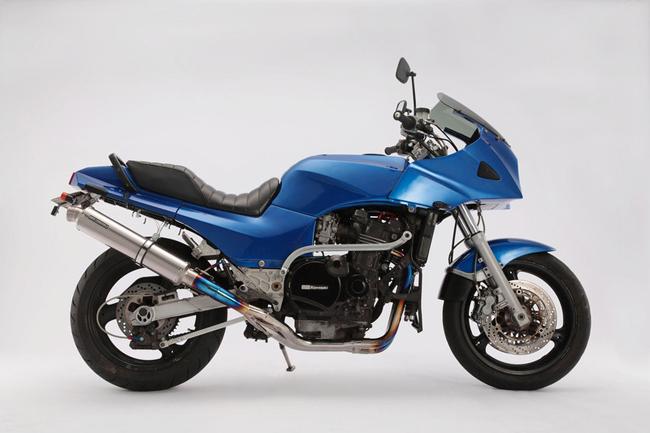 R-EVOチタンソリッドΦ100 チタンフルエキ 4-2-1 BMS-R(ビームス) GPZ900R Ninja(ZX900A)