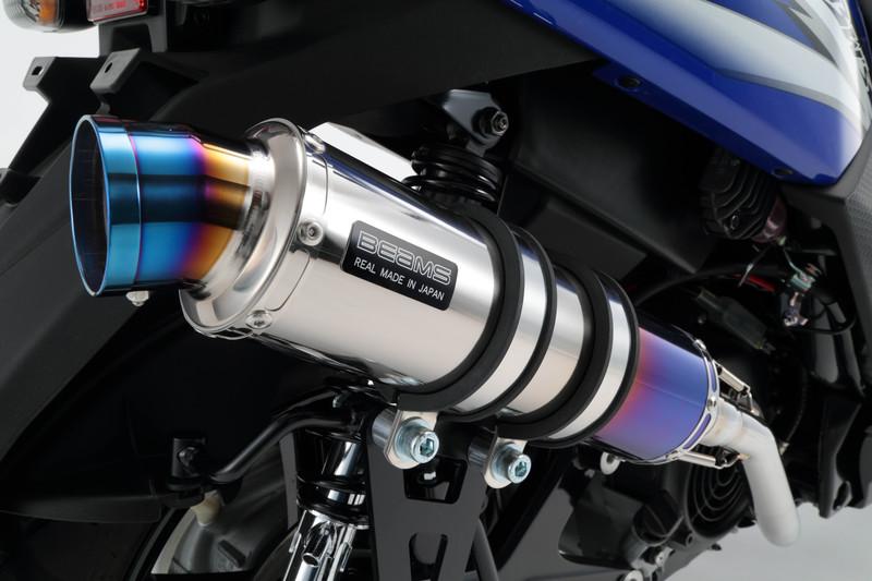 R-EVOマフラー(レーシングエヴォ) チタンサイレンサー 政府認証モデル BEAMS(ビームス) ビーウィズ125(BWS125)SEA6J