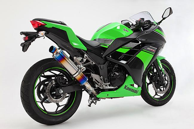 R-EVOヒートチタン スリップオンマフラー 政府認証 BMS-R(ビームス) Ninja250(ニンジャ 13~17年)