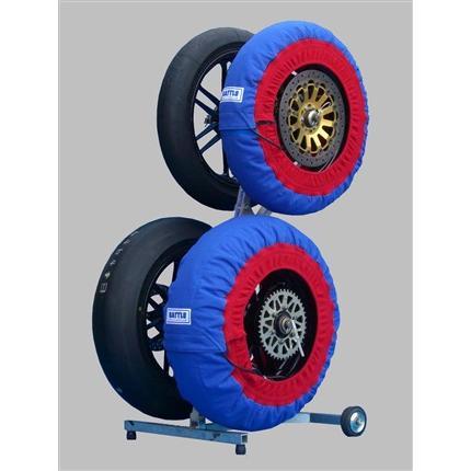 タイヤウォーマー 17inch 用 (青色) BATTLE FACTORY(バトルファクトリー) NS50F・R
