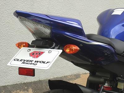 フェンダーレスキット 黒FRP CLEVER WOLF RACING(クレバーウルフレーシング) YZF-R6(06~07年)