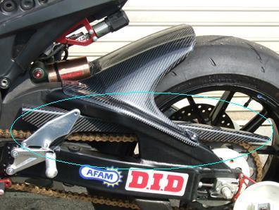 チェーンカバー カーボン平織 CLEVER WOLF RACING(クレバーウルフレーシング) CBR1000RR(08年~)