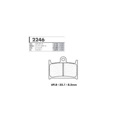 C55レーシング用 フロントブレーキパッド カーボンロレーヌ(CARBONE LORRAINE) TRIUMPH 2300Rocket 年式:04-