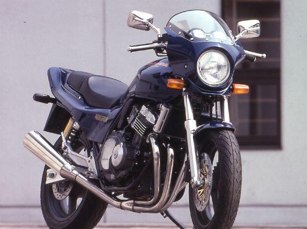 マスカロード クリアスクリーン チタニウムメタリック(YR-183M) 通常スクリーン CHIC DESIGN(シックデザイン) CB400SF・Ver.S(92~98年)