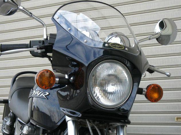マスカロード スモークスクリーン キャンディアマランスレッドマイカ(2D) 通常スクリーン CHIC DESIGN(シックデザイン) ゼファー750・RS(ZEPHYR)