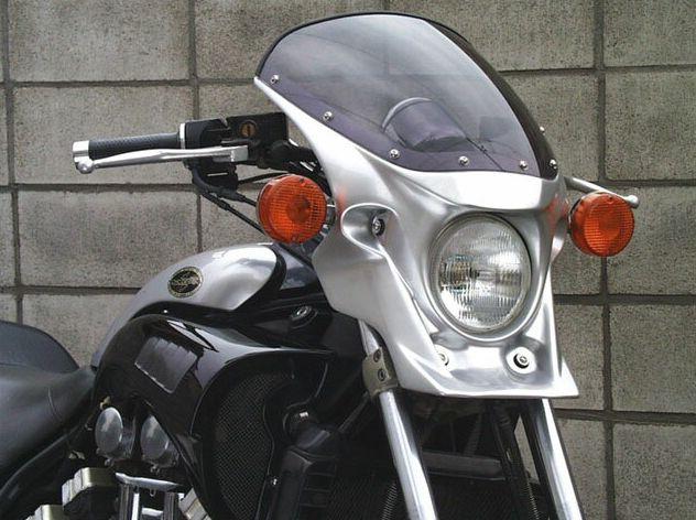 マスカロード スモークスクリーン 未塗装(黒ゲルコート) 通常スクリーン CHIC DESIGN(シックデザイン) V-MAX1200(~08年)