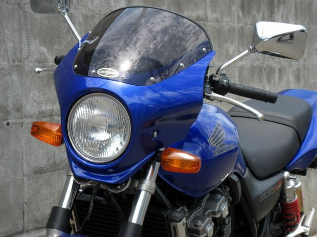 マスカロード スモークスクリーン 未塗装(黒ゲルコート) 通常スクリーン CHIC DESIGN(シックデザイン) CB400SF VTEC SPEC2(02~03年)