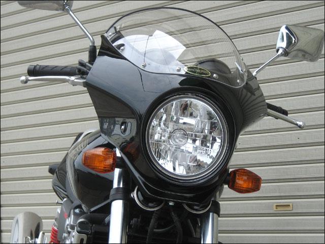 マスカロード クリアスクリーン パールサンビームホワイト/シルバー/ブラック 通常スクリーン CHIC DESIGN(シックデザイン) CB400SF VTEC Revo(10年~)
