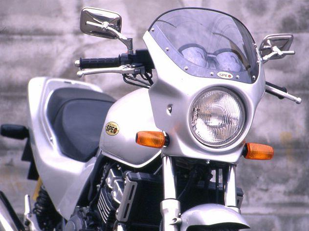 ロードコメット クリアスクリーン ラピスブルーメタリック/スパークリングシルバーメタリック 通常スクリーン シックデザイン CB400SF・Ver.S(92~98年)