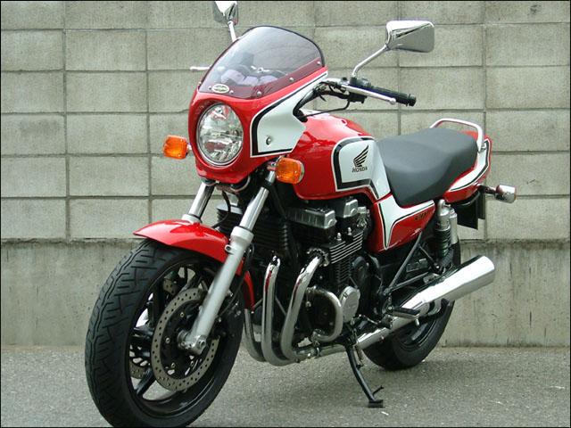 ロードコメット スモークスクリーン キャンディブレイジングレッド/ホワイト/ブラック(CB-Fカラー) 通常スクリーン シックデザイン CB750(04~08年)
