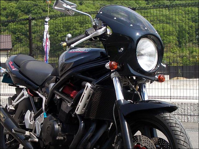 ロードコメット クリアスクリーン 未塗装(黒ゲルコート) 通常スクリーン CHIC DESIGN(シックデザイン) バンディット400(BANDIT)89~94年