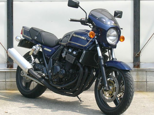 ZRX-II(95~08年) ロードコメット スモークスクリーン パールミスティックブラック(218) 通常スクリーン CHIC DESIGN(シックデザイン)