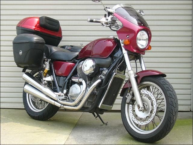 ロードコメット スモークスクリーン キャンディトランスパレントレッド(R204C) 通常スクリーン シックデザイン VRX400(ロードスター)95~99年