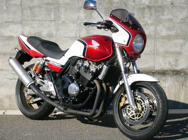 ロードコメット スモークスクリーン パールへロンブルー/ホワイト/レッド(プロス限定カラー) 通常スクリーン シックデザイン CB400SF VTEC SPEC2(02~03年)