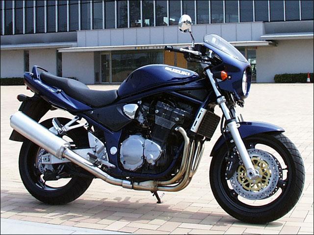 ロードコメット スモークスクリーン パールスズキディープブルーNo.2(LR5) 通常スクリーン シックデザイン バンディット1200(BANDIT)00~05年