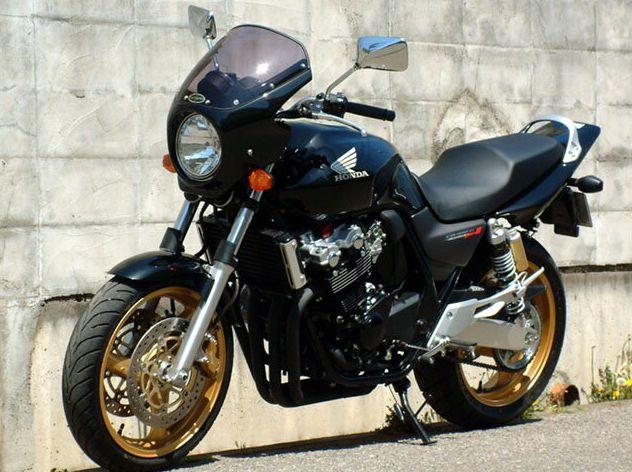 ロードコメット クリアスクリーン キャンディブレイジングレッド/ホワイト/ブラック(CBXカラー) 通常スクリーン シックデザイン CB400SF VTEC SPEC3