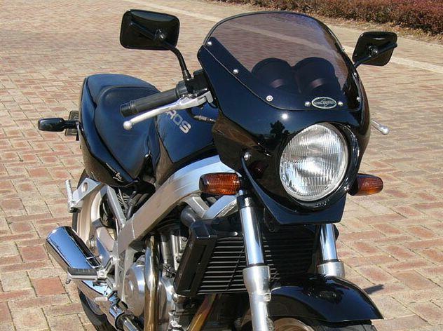 ロードコメット2 クリアスクリーン 未塗装(黒ゲルコート) 通常スクリーン CHIC DESIGN(シックデザイン) ブロス400・650(BROS)88~91年