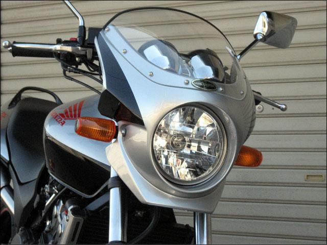 ホーネット250・DX(96~08年)ロードコメット2キャンディブレイジングレッド/グラファイトブラックスモーク/通常スクリーンシックデザイン