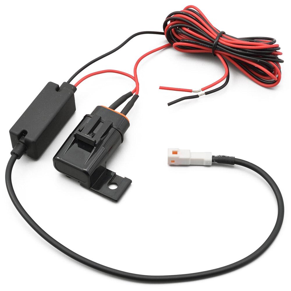 ドライブレコーダー お金を節約 M777D オンライン限定商品 補修品 12V電源ケーブル 約2m デイトナ DAYTONA 2Aヒューズボックス付き