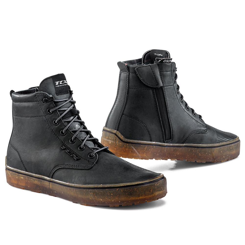 ふるさと割 TCX 売店 7306W ダートウッド ライディング ブーツ 24.0cm ウォータープルーフ DAYTONA デイトナ ブラック