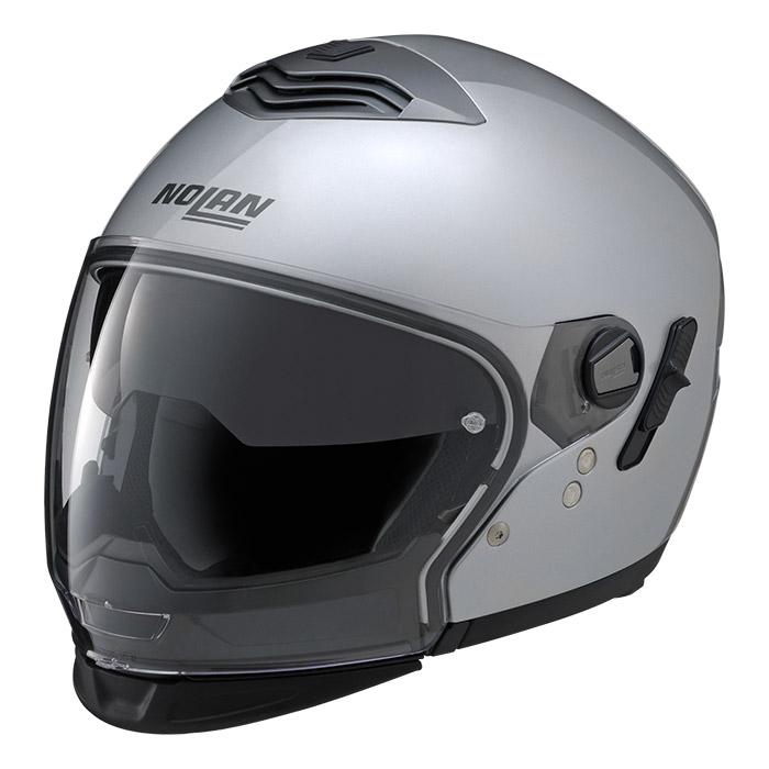 N43T ソリッド プラチナシルバー Lサイズ クロスオーバーヘルメット NOLAN(ノーラン)