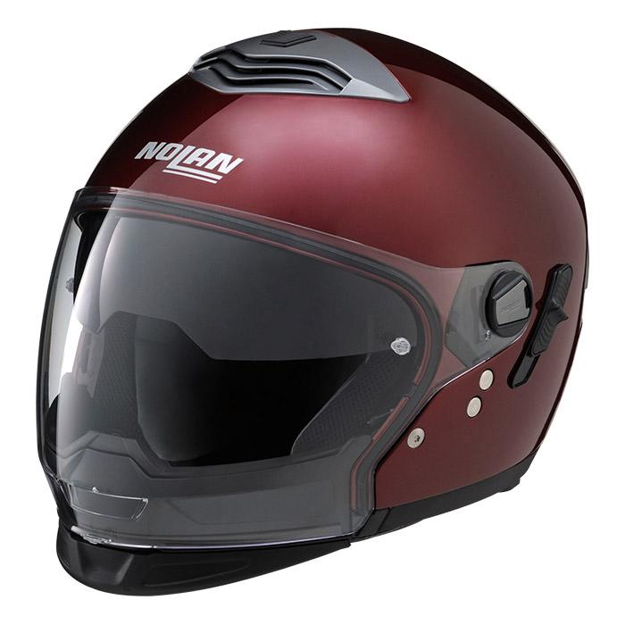 N43T ソリッド ワインチェリー Lサイズ クロスオーバーヘルメット NOLAN(ノーラン)