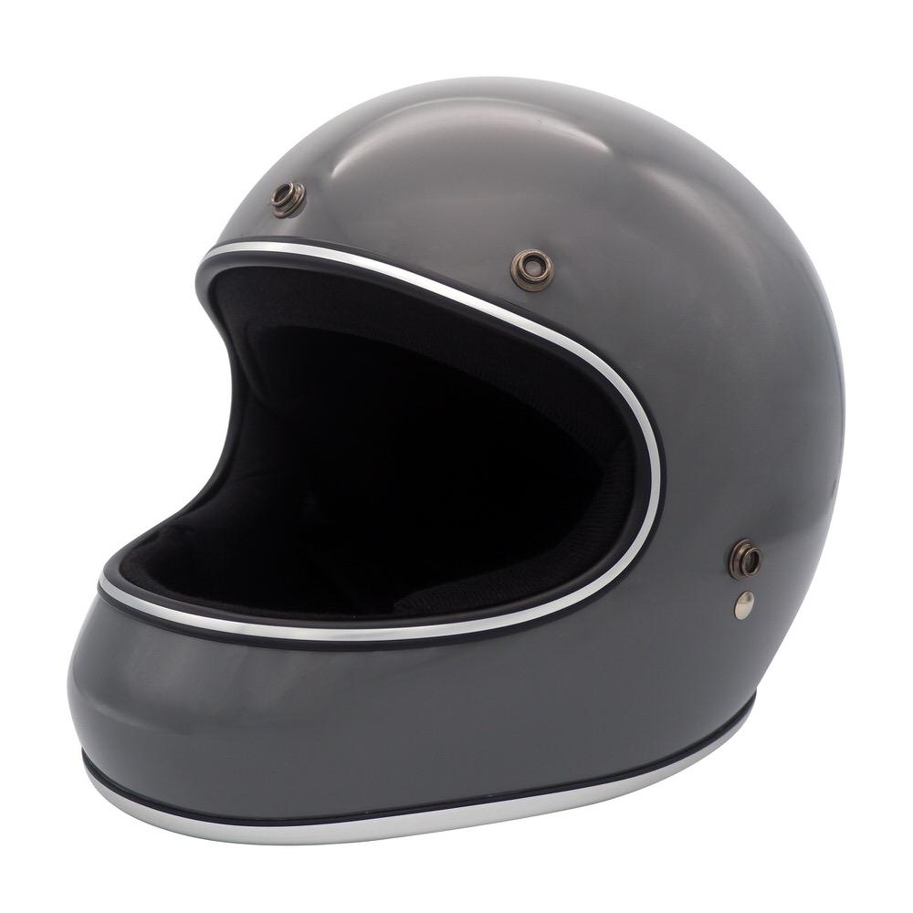 AKIRA(アキラ) グロスグレイ Lサイズ (フルフェイスヘルメット) DAMM TRAX(ダムトラックス)