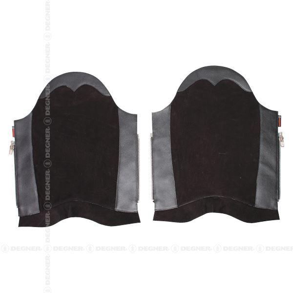 DBC-07A レザーブーツチャップス ブラック Mサイズ デグナー(DEGNER)