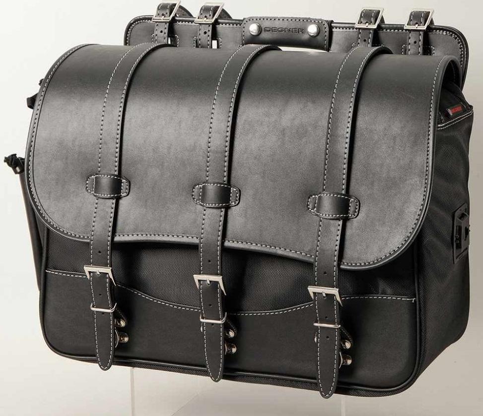 大容量ナイロンサドルバッグ(ブラック)26リットル バッグガード付 DEGNER(デグナー)