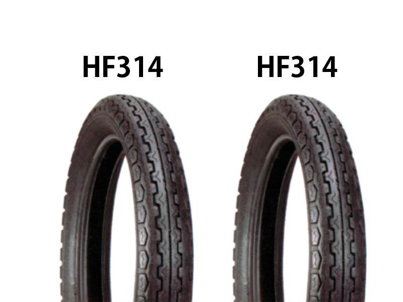 イヤ前後セット HF314 3.50-18(90/90-18相当)・HF314 4.00-18(110/90-18相当) DURO(デューロ) SR400 タ