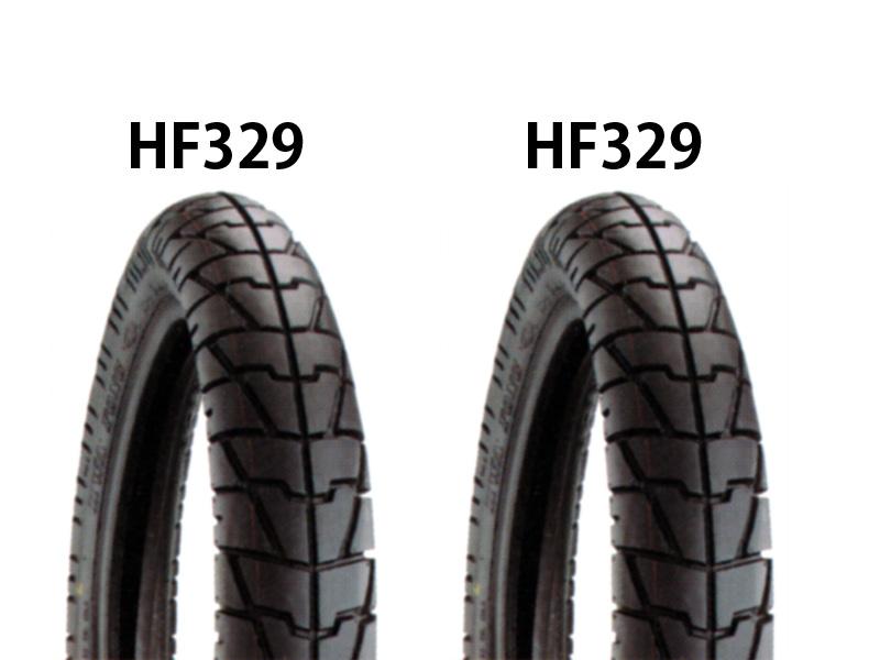 タイヤ前後セット HF329 90/90-18・HF329 110/90-18 DURO(デューロ) GB250(クラブマン)