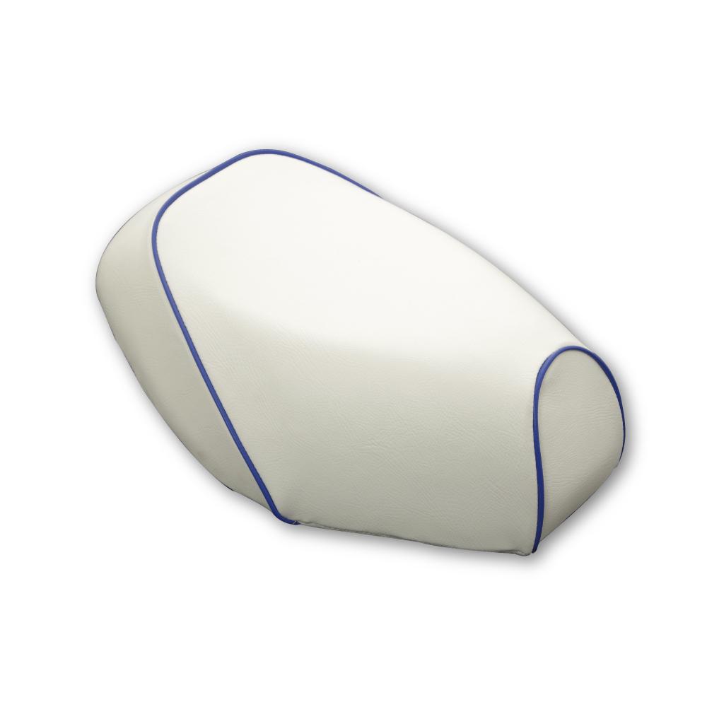 張替タイプ 国産シートカバー 白カバー・青パイピング GRONDEMENT(グロンドマン) ヴェルデ3型(CA1MB-100001~):バイク メンテ館
