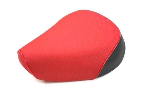 張替タイプ 国産シートカバー エンボスレッド/赤パイピング GRONDEMENT(グロンドマン) KYMCO スーナー50SS/Z(2スト):バイク メンテ館