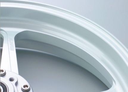 Type-GP1S(アルミニウム)鍛造ホイール パールホワイト ガラスコーティング仕様 3.00-17(フロント用) GALE SPEED(ゲイルスピード) YZF-R25(ABS不可)15年