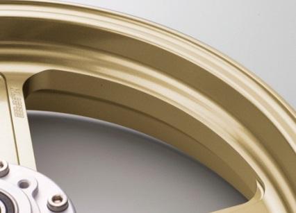 Type-GP1S アルミニウム鍛造ホイール ゴールド ガラスコーティング仕様 3.00-17 フロント用 GALE SPEED(ゲイルスピード) Ninja250SL(ニンジャ)ABS可 15年