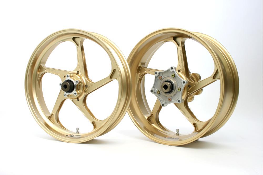 Type-GP1SM マグネシウム鍛造ホイール ゴールド ガラスコーティング仕様 3.50-17 フロント用 GALE SPEED(ゲイルスピード) BMW S1000RR HP4(12~14年)