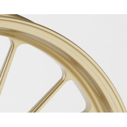 12インチアルミニウム鍛造ホイール TYPE-S ゴールド F265-12 GALE SPEED(ゲイルスピード) NSR50・NSR80 '95~