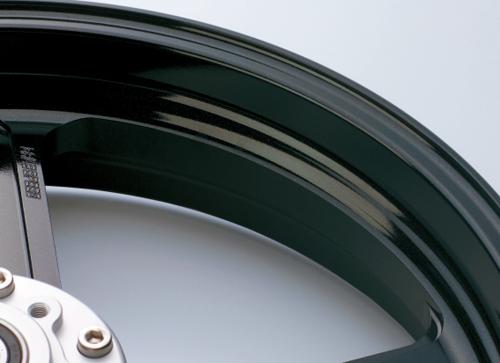 アルミニウム鍛造ホイール TYPE-R 350-17 フロント用 ブラックメタリック Gコート仕様 GALE SPEED(ゲイルスピード) GSX1300R(隼)13~14年 ABS仕様