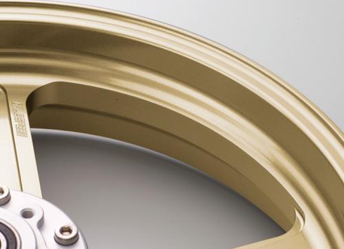 アルミニウム鍛造ホイール TYPE-R 350-17 フロント用 ゴールドGコート仕様 GALE SPEED(ゲイルスピード) GSX1300R(隼)13~14年 ABS仕様