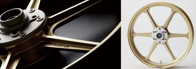 アルミ鍛造ホイール TYPE-N リア用 4.00-18 ゴールド Gコート GALE SPEED(ゲイルスピード) Z1000J
