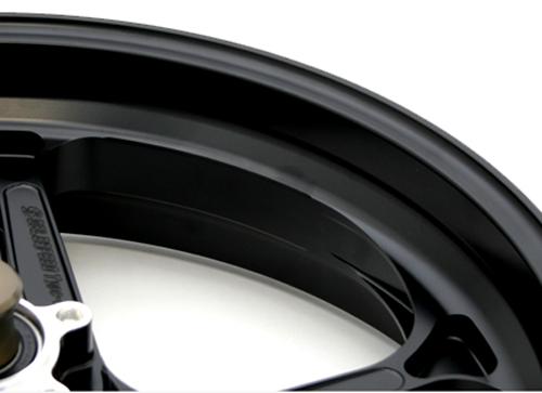 アルミニウム鍛造ホイール TYPE-GP1S 350-17 フロント用 半ツヤブラック Gコート仕様 GALE SPEED(ゲイルスピード) GSX1300R(隼)13~14年 ABS仕様