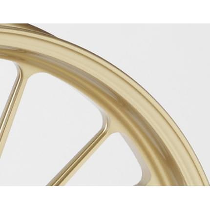 MT-09 17~18年(ABS) アルミニウム鍛造ホイール TYPE-S Gコート仕様 フロント用 350-17 ゴールド ガラスコーティング仕様 GALE SPEED(ゲイルスピード)