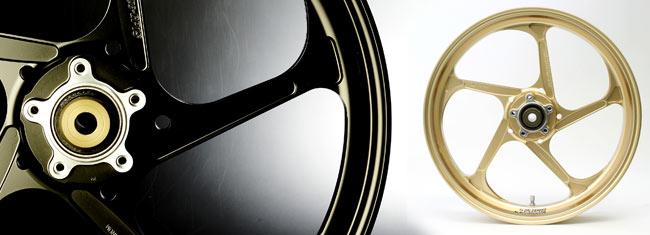 アルミ鍛造ホイール (TYPE-GP1S Gコート) フロント用 350-17 ゴールド GALE SPEED(ゲイルスピード) CBR1000RR(ABS)17年